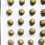 cookie sheet of protein balls