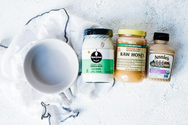Honey Mustard Dipping Sauce Ingredients.