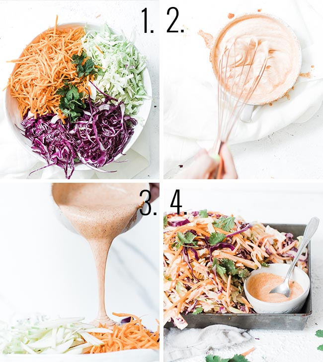 How to make homemade coleslaw.