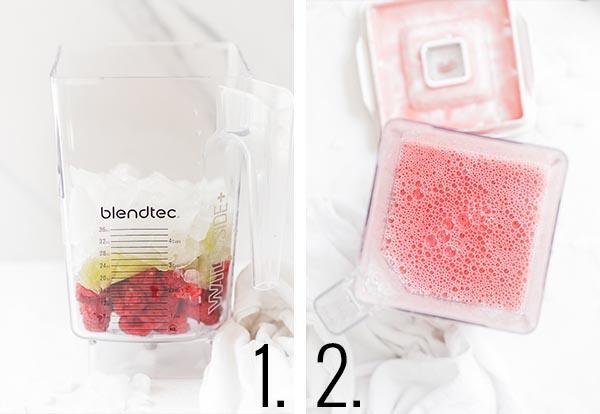 How to make raspberry limeade.