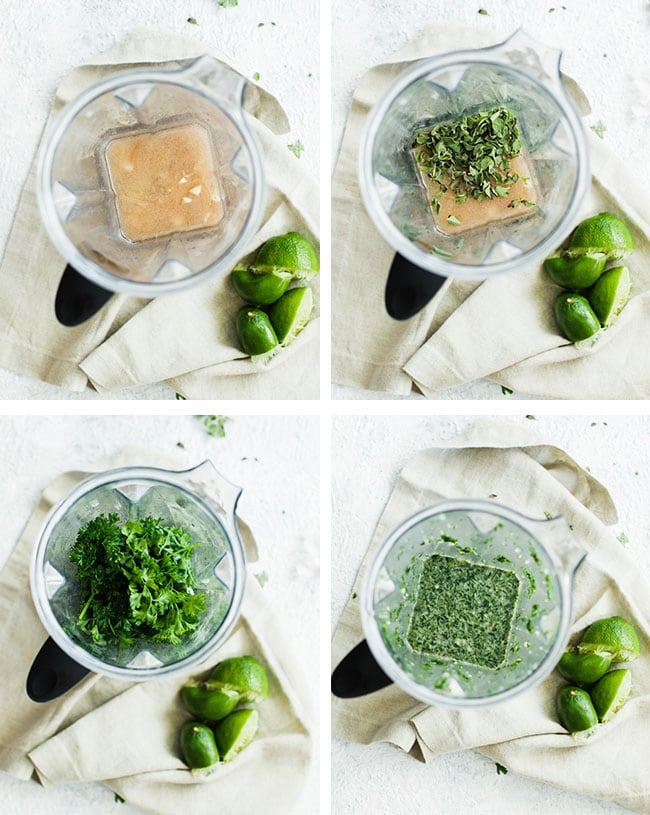 steps for mincing chimichurri