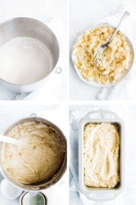 4 steps to making banana bread