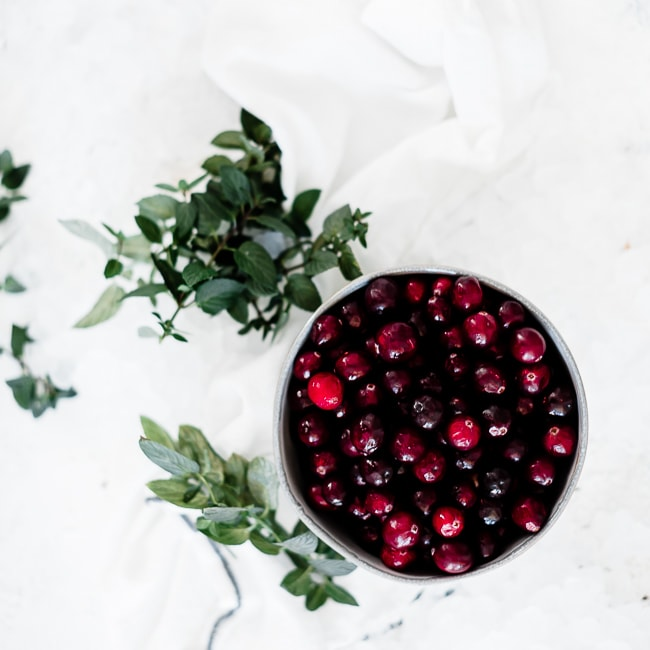 Cranberry mint water ingredients.