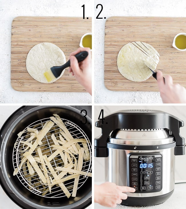 How to make tortilla strips.