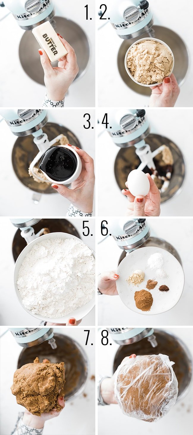 How to make gingerbread dough.