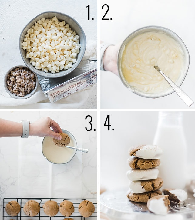 How to make white chocolate frosting.