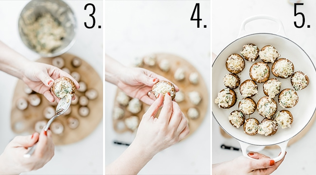 How to stuff mushrooms.