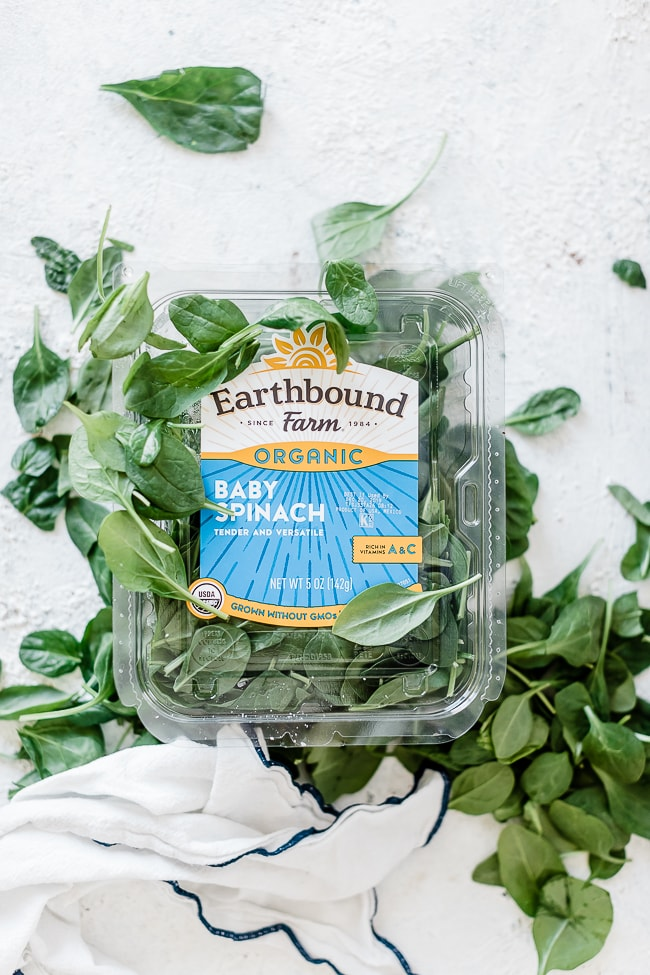Earthbound farm spinach.