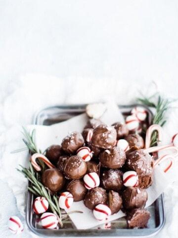 plateful of fudge truffles