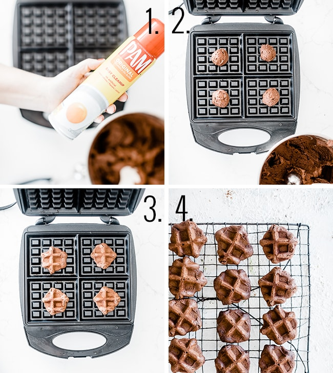 How to bake waffle cookies.