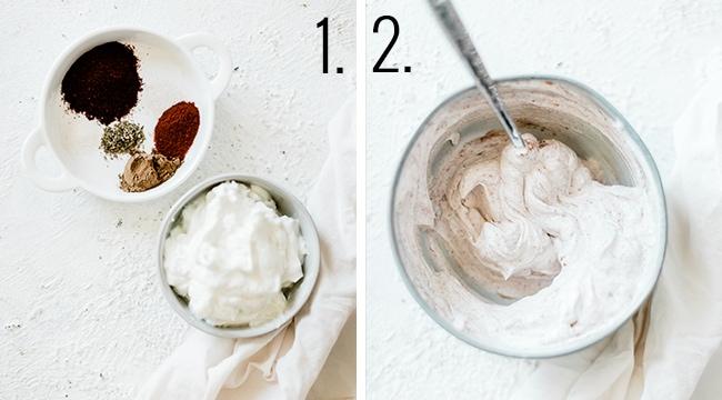 How to make seasoned greek yogurt.