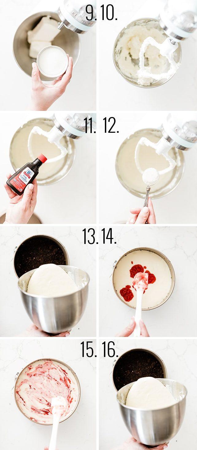 How to make raspberry cheesecake recipe.