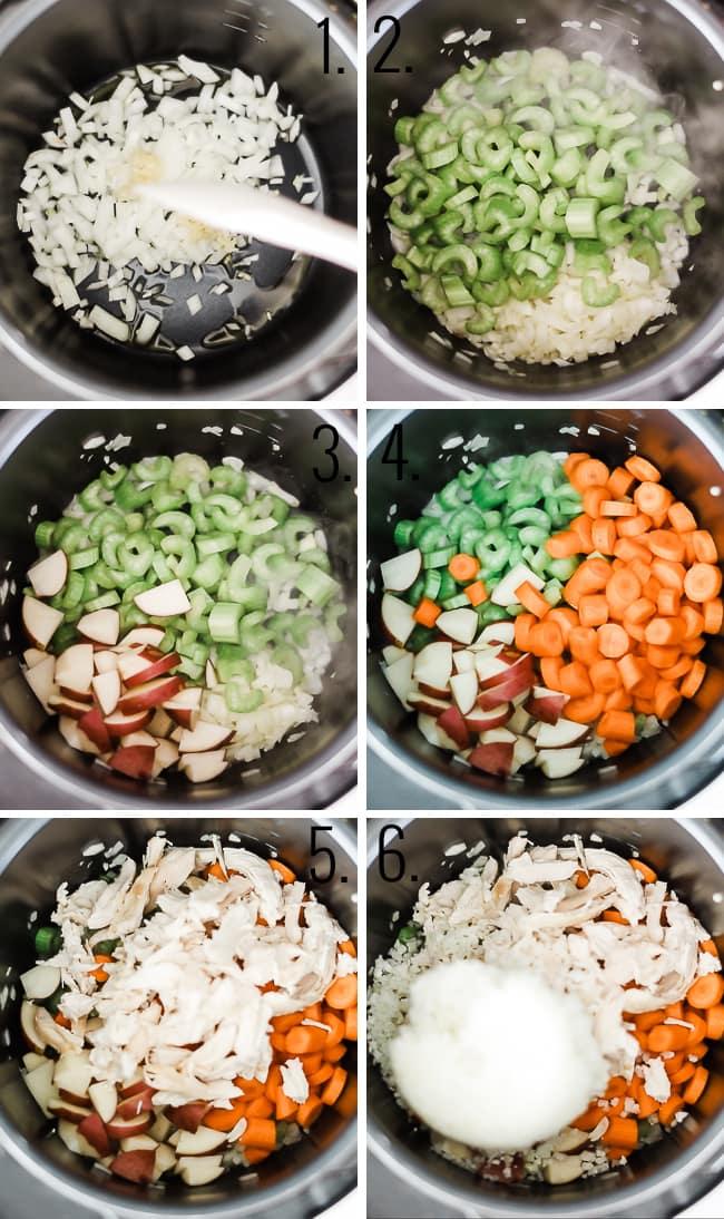 How to make golden chicken stew.
