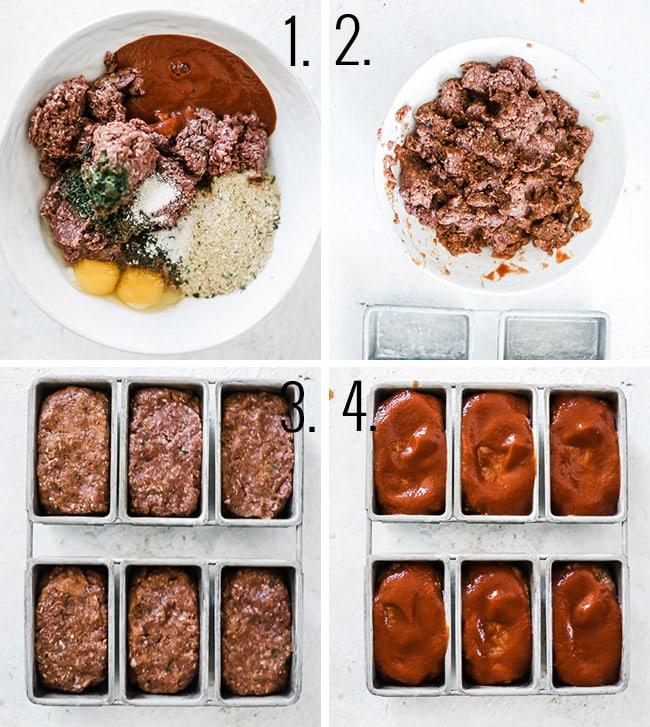 How to make mini meatloaves.