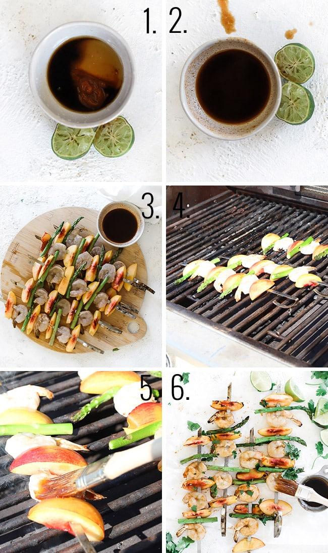 How to make shrimp kabobs.