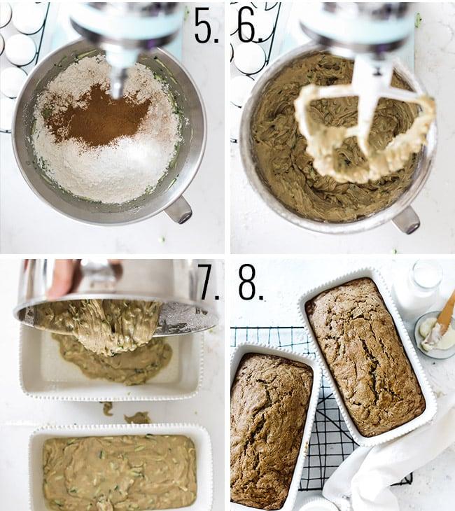 How to make zucchini bread.
