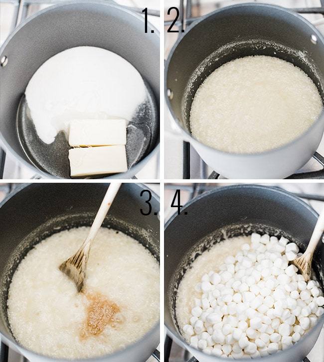 How to make marshmallow popcorn.