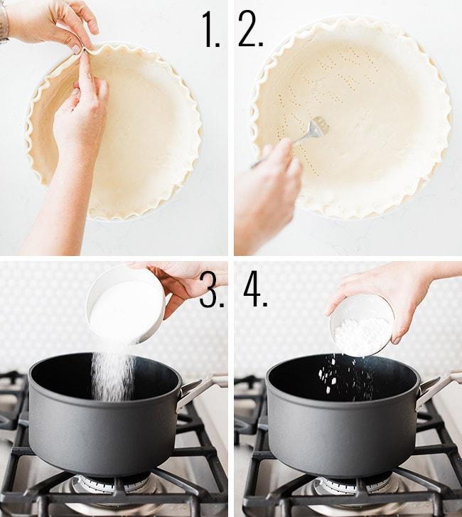 How to prepare a banana cream pie.
