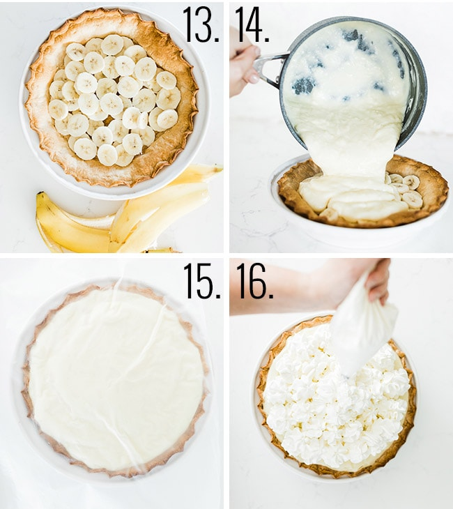 How to make banana cream pie.