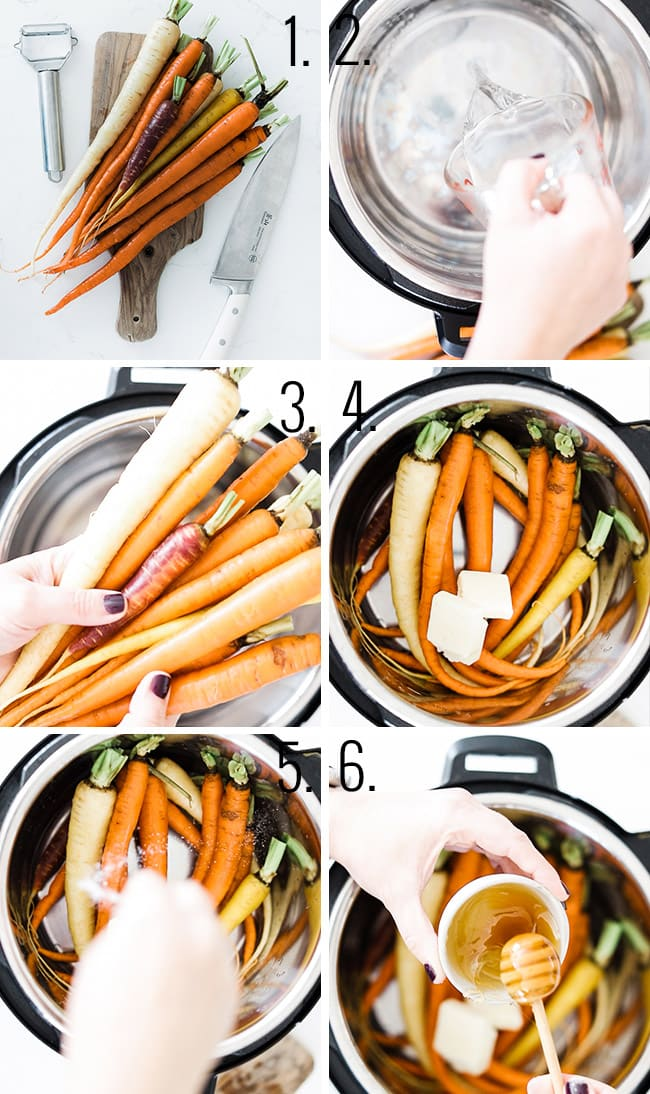 How to make pressure cooker carrots.