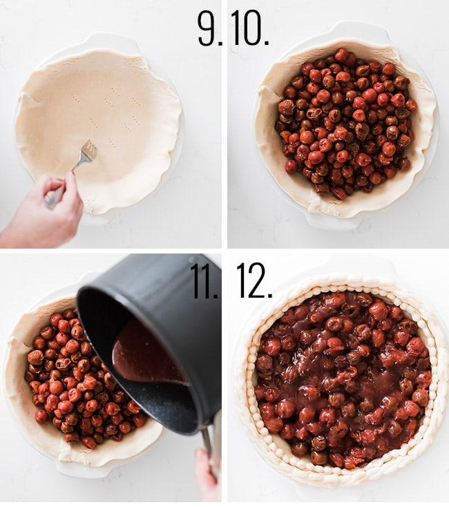 How to make a cherry pie.