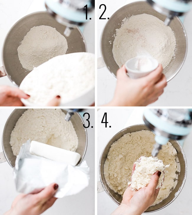 How to make pie crust in a stand mixer.