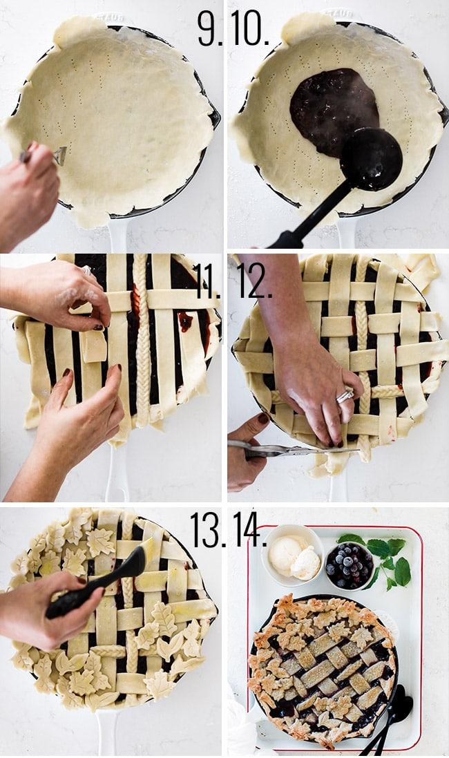 How to prepare razzleberry pie.
