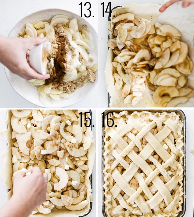 How to assemble a slab pie.