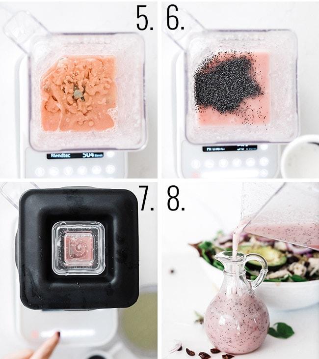 How to make poppyseed dressing in a blender.