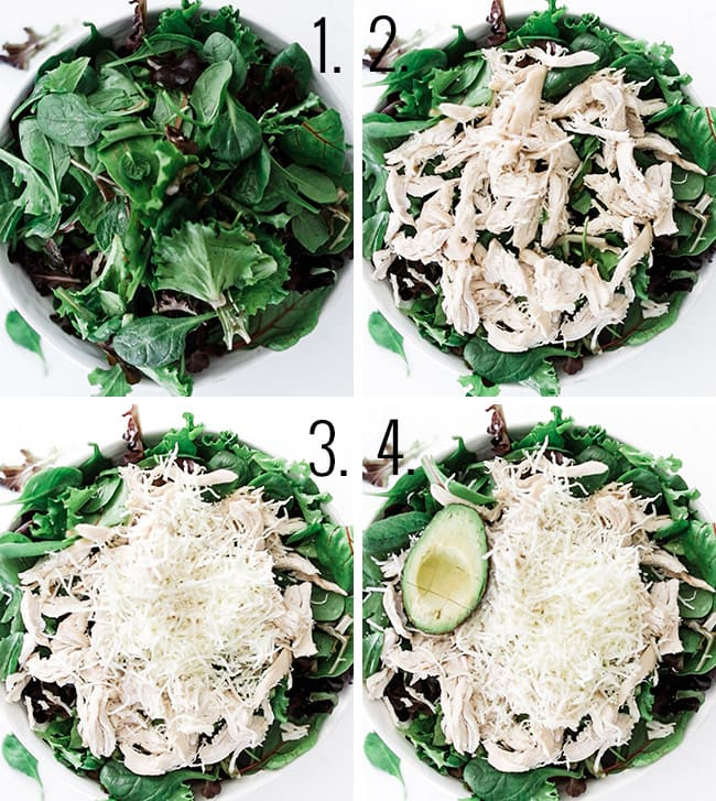 How to assemble your leftover turkey recipe salad.