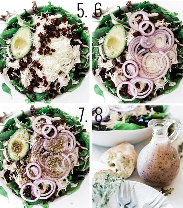 How to assemble a salad.