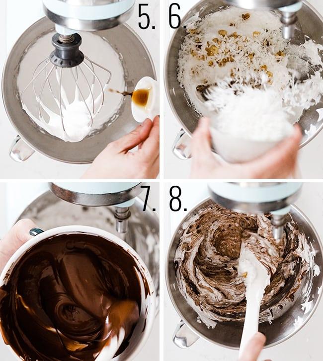 How to make chocolate meringue cookies.