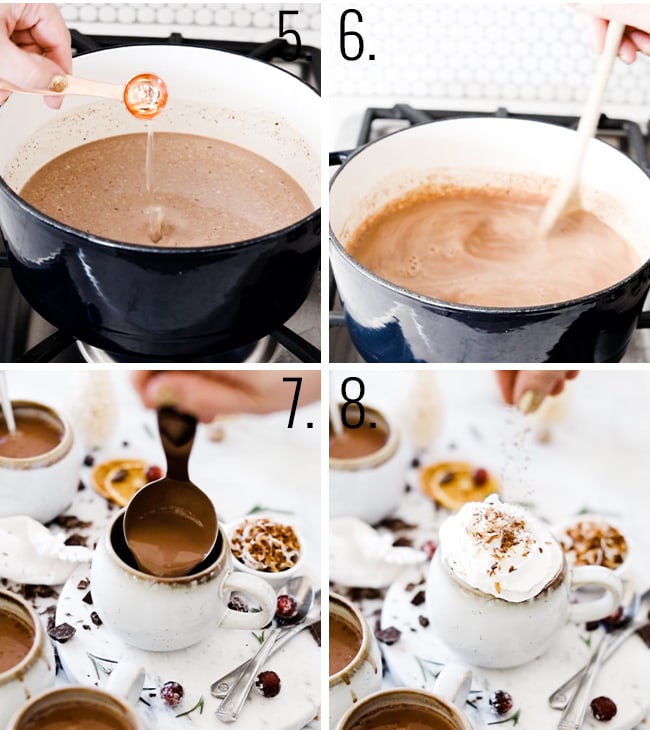 How to make coconut milk hot chocolate.