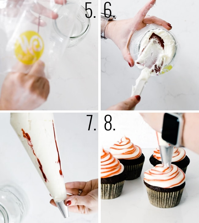 How to make peppermint frosting.