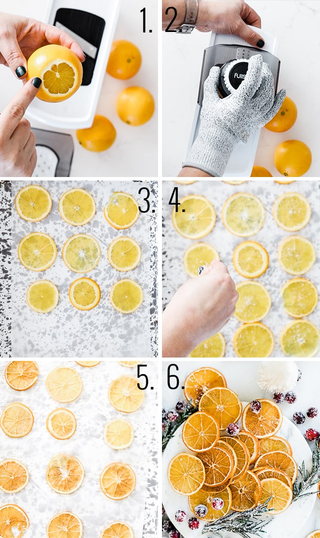 How to make dried orange slices.