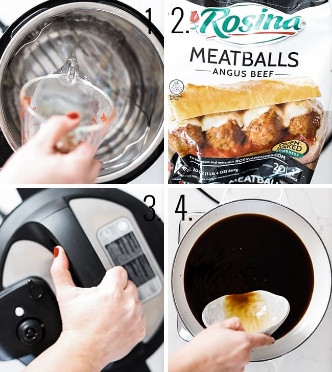 How to cook meatballs in the pressure cooker.