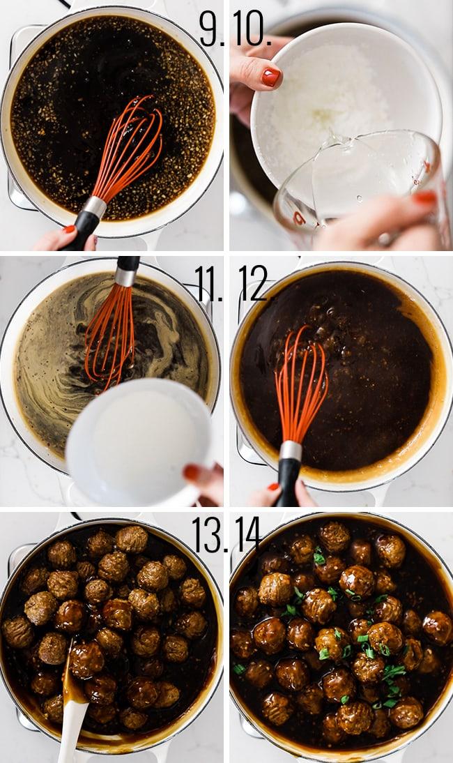 How to make Mongolian meatballs.