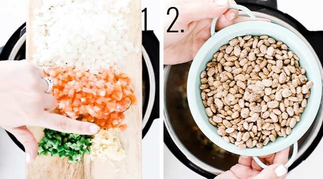 How to soften veggies in the pressure cooker.