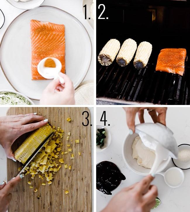 How to prepared blacked salmon.