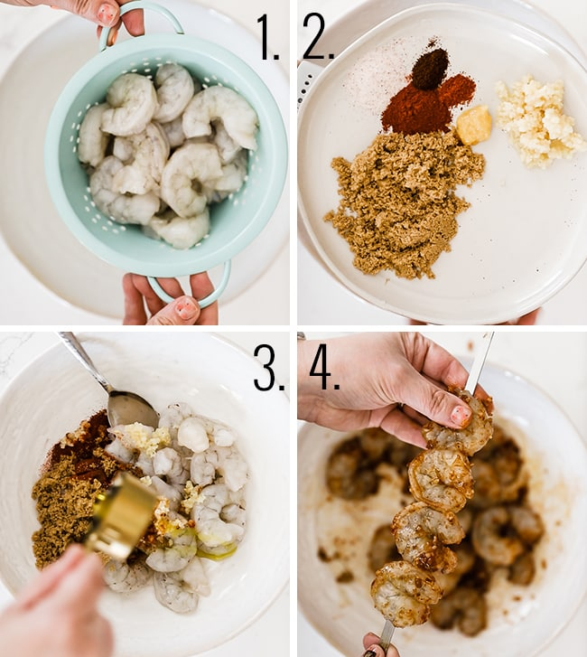 How to prepare grilled shrimp.