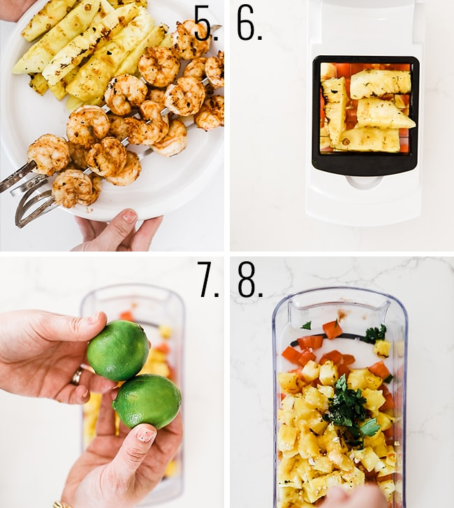 How to grill pineapple.