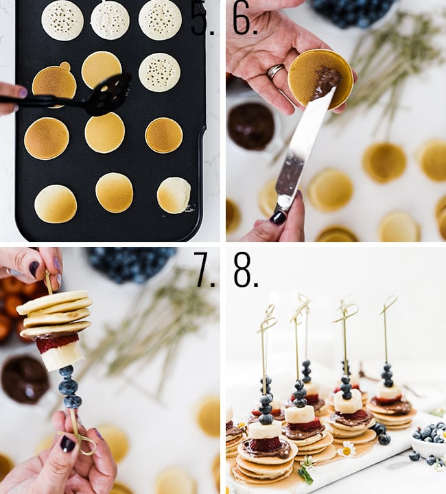 How to assemble skewers.