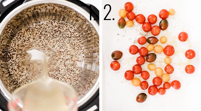 How to roast tomatoes.