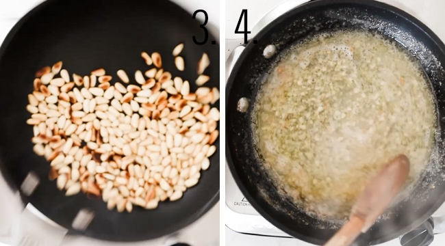How to toast pine nuts.