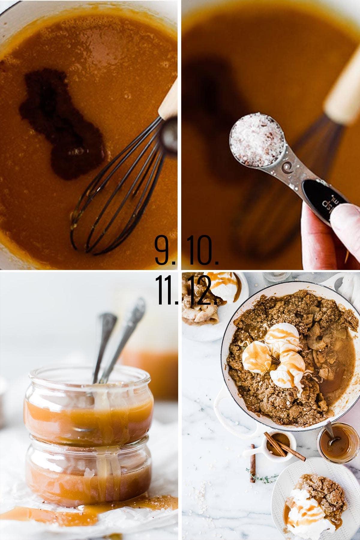How to make caramel - add vanilla and salt.