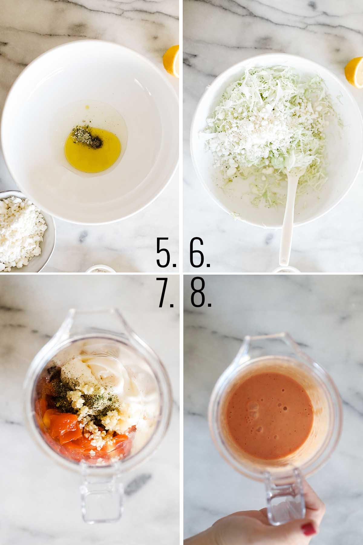 How to make feta slaw and tomato aioli.
